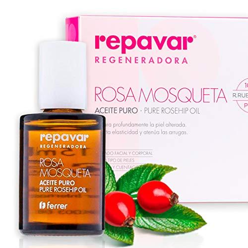 Repavar Regeneradora - Aceite 100% Puro Rosa Mosqueta R. rubiginosa,...
