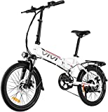Vivi Folding Electric Bike, 20'' Electric Commuter Bike 350W Ebikes for Adults with 36V 8Ah Removable Lithium-ion Battery, Shimano 7 Speed Shifter, 3 Riding Modes and Dual Disc Brakes