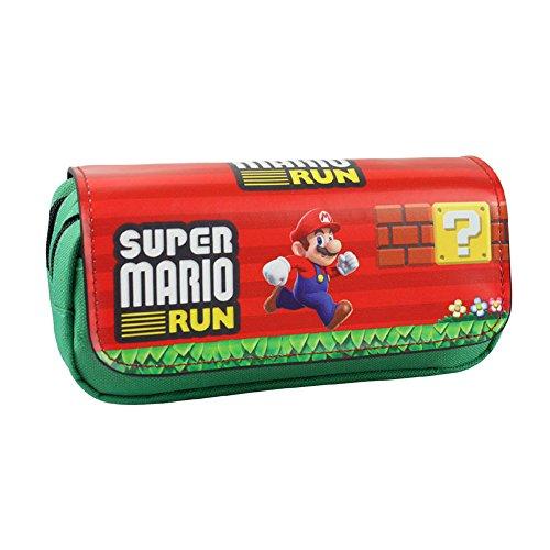 Astuccio a due scomparti, ideale per studenti, design anime/cosplay Super Mario