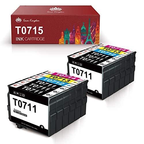Toner Kingdom T0715 Cartucce Compatibili Epson T0711 T0712 T0713 T0714 per Epson Stylus SX218 SX200 SX205 SX100 SX105 SX400 D92 DX4000 DX7400 Office BX300F BX610FW (12 Pack)
