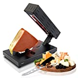 Electric Raclette Cheese Melter Machine - Table Top Stainless Steel Cheese Grill Melting Warmer Heater, Makes Swiss Style Cheese Sauce to Top on Potatoes, Burger, Nacho, Pasta - NutriChef PKCHMT26