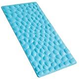 OTHWAY Non-Slip Bathtub Mat Soft Rubber Bathroom Bathmat with Strong Suction Cups (Blue)