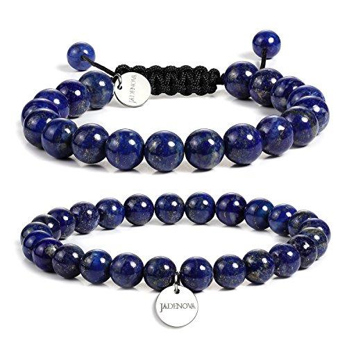 JADENOVA 8/10mm Natural Lapis Lazuli Gemstone Bracelet...