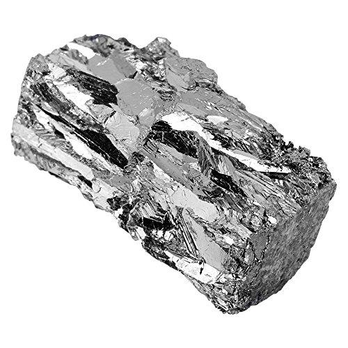 Bismuto Cristallo di Bismuto, Metallo Bismuto lingotto Chunk 100 g puro al 99,99% per Cristalli/Esche da Pesca Making