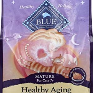 BLUE Mature Healthy Aging Chicken & Brown Rice Dry Cat Food 5-lb