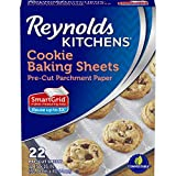 Reynolds Kitchens Cookie Baking Sheets, Pre-Cut Parchment Paper, 22 Sheets