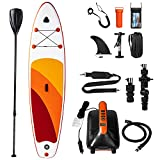 Homni Inflatable Stand Up Paddle Board, Yoga&Fishing's SUP with waterproof phone pouch,Camera dock, Electric Pump,Traveling Board for Surfing for All Skill Levels Everything.Suitable for Rivers&Oceans