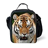 3D Tiger Lunch Bag Kids Small School Shoulder Cooler Bags Stylish for Children