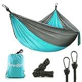 Newdora Camping Hammocks Garden Hammock Ultralight Portable Nylon Parachute Multifunctional Lightweight Hammocks with 2 x Hanging Straps for Backpacking, Travel, Beach, Yard