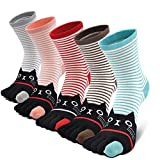 Womens Toe Socks Cotton Five Finger Socks Cute Animal Socks Colorful Funny Casual Crew Socks for Ladies,5 Pairs