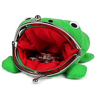 Material: Made of high-quality plush, filled with PP cotton. Contains a metal frame, double buckle closure. The frog coin purse is super fluffy and soft to the touch. Dimensions: about 4.17 inches long, 3.93 inches wide, and weighs 30 grams. Can hold...