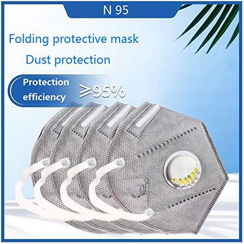 Maschera con valvola di respirazione n95 pulizia antipolvere unisex fff2 comoda valvola di respirazione igiene 10PCS