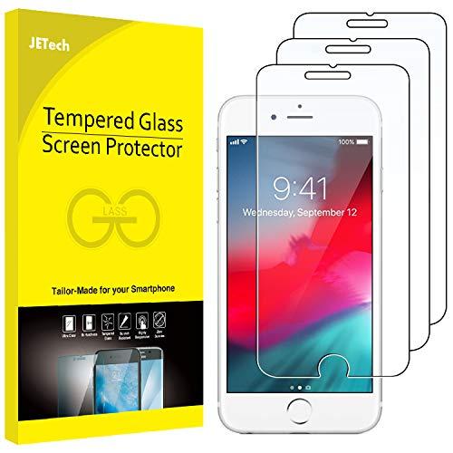 JETech Pellicola Protettiva per iPhone 8 Plus / 7 Plus / 6s Plus / 6 Plus, Vetro Temperato, Pacco da 3