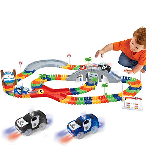 Liberty Imports 142 Pieces Create a Road Super Snap Speedway - Magic...