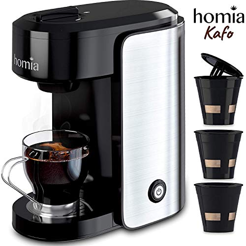 Coffee Maker Machine Single Serve - Electric Brewer for Ground...