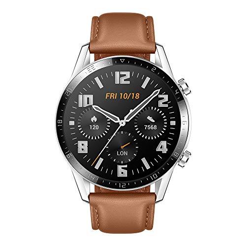 Huawei Watch GT2 - Smartwatch con Caja de 46 Mm (Pantalla Táctil Amoled de 1.39', GPS, 15 Modos Deportivos, Llamadas Bluetooth), marrón