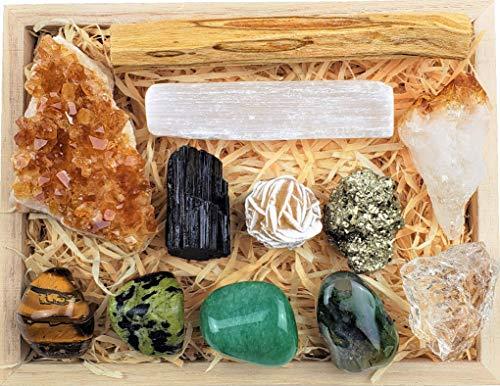 ZATNY Premium Abundance and Prosperity Crystal in Wooden Box...