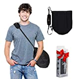 Helmet Carrying Bag for Motorcycle Helmets | Foldable | Fits Full Face Helmets | Hands Free Riding Accessory | Theft Protection - for Men, Women and Children Riders - Black