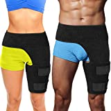 Hip Brace Thigh Compression Sleeve – Hamstring Compression Sleeve & Groin Compression Wrap for Hip Pain Relief. Support for Hip Replacements, Sciatica, Quad Muscle Strains Fits Both Legs (SM/Left)