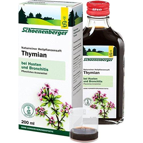 Schoenenberger Thymian, Naturreiner Heilpflanzensaft – bei Husten und Bronchitis - freiverkäufliches Arzneimittel, 200 ml