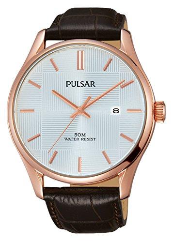 Pulsar Herren-Armbanduhr Analog Quarz Leder PS9426X1