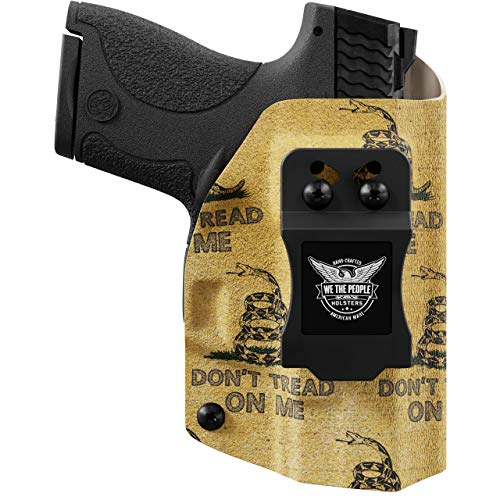 We The People - Gadsden Flag Right Hand Inside Waistband Concealed Carry Kydex IWB Holster Compatible with Smith & Wesson M&P Shield / M2.0 9mm/.40 w/Streamlight TLR-6 Light/Laser Gun