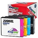 Kingway Compatible PGI-2200XL Pigment Ink Cartridges Work with Maxify MB5020 iB4120 MB5320 MB5420 MB5120 iB4020 Printer 4 Pack(1 Black,1 Cyan,1 Magenta,1 Yellow