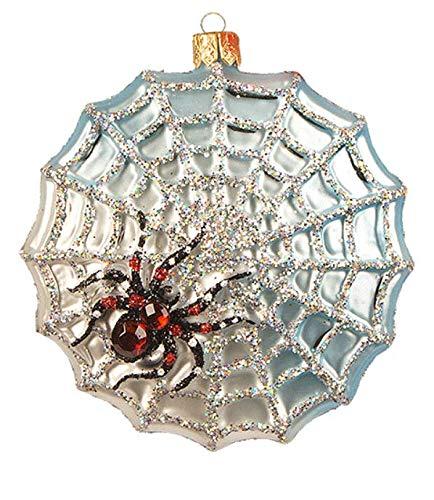 The Legend of The Christmas Spider Web Halloween Bug Insect Polish Glass Christmas Tree Ornament