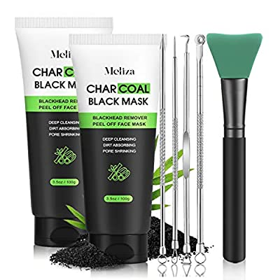 ☻TWO PACKS OF LARGE CAPACITY☻-Meliza Peel Off Facial Mask is the best choice for blackhead remover. The large capacity of two packs perfectly solves the trouble of buying again,comes with a brush to help blackhead peel off mask application. ☻BLACKHEA...