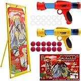 DigHealth 2 Pièces Pistolets Boule Mousse, Pistolets Jouet avec Cible Tir de...