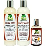 Fountain Mighty Roots Jamaican Pimento and Black Castor Oil with Shampoo and Conditioner Receding Hairline Combo
