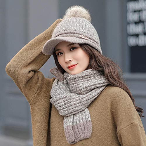 Nuovo cappello invernale da donna alla moda,Knitted wool hat, warm and windproof thickening outdoor...