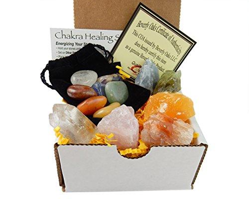Chakra Mineral Starter Set/Crystal Healing Kit ~ 6 Colorful...