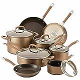 Circulon Premier Professional Nonstick 13-piece Cookware Set | Richly Colored Bronze Exterior