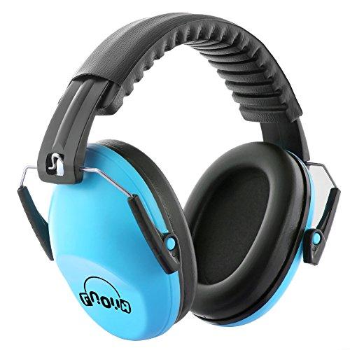 Fnova 防音イヤーマフ 遮音値26dB プロテクター フリーサイズ 折りたたみ型 子供用 自閉症 聴覚過敏 騒音対...
