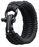 The Friendly Swede Bracelet de Survie Trilobite en Paracorde Extra Robuste avec Maillon d'Attache Noir en...