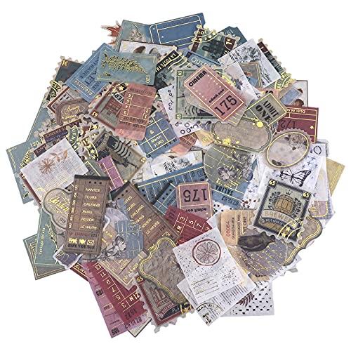 200 Pcs Autocollants Thème du timbre Stickers Vintage Autocollants Voyage...