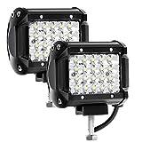 Kraumi Phare de Travail LED 12V 144W 4'' Projecteur LED Voiture 12v Etanche...