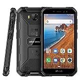 Smartphone Pas Cher Incassable Ulefone Armor X6 (2020) Android 9.0 Quad-Core, Écran 5.0 Pouces HD+, 16Go + 2Go, 4000mAh, Double SIM Nano Face ID Telephone Portable Mode Gant (Noir, Globle 3G)