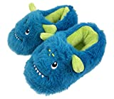 FREE 2 DREAM Slippers for Toddler and Kids, Unicorn, Llama, Blue Monster, Bear Claw, Pug, Indoor Outdoor Bottom, Soft Plush, Toddler Size 7 to Kids Size 12