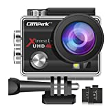 Campark ACT74 Action Camera 4K Ultra HD WiFi Underwater Waterproof Camera 16MP 170 Adjustable Wide Angle Lens with 2 Rechargeable Batteries and Multiple Accessories Kits