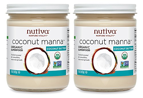 Nutiva Organic Coconut Manna Puréed Coconut Butter, 15 Ounce (Pack of 2)