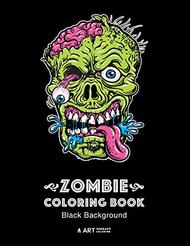 Zombie Coloring Book: Black Background: Midnight Edition...