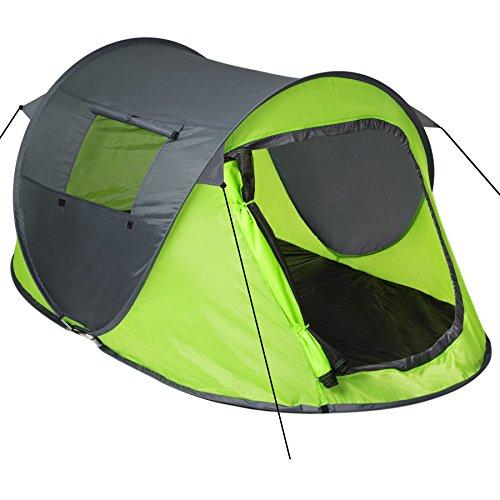 TecTake Grande Tente instantanée 2 Personnes Pliante Pop up + Housse de...