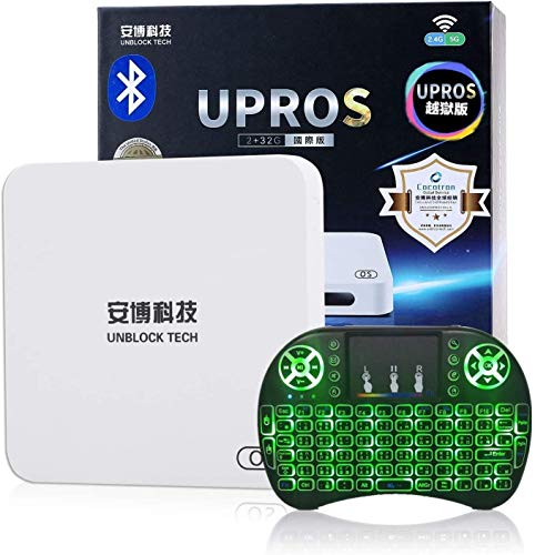 Unblock Tech Cocotron UBOX Gen7 UPROS i9 2G RAM+32G ROM 802.11ac 5G WiFi US Licensed Jailbreak Version Android Box World Wide Certification (UPROS I9 2+32G)