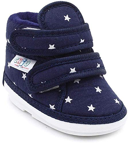 CHIU Chu-Chu Blue Shoes with Double Strap for 12-15 Months Baby Boys & Baby Girls