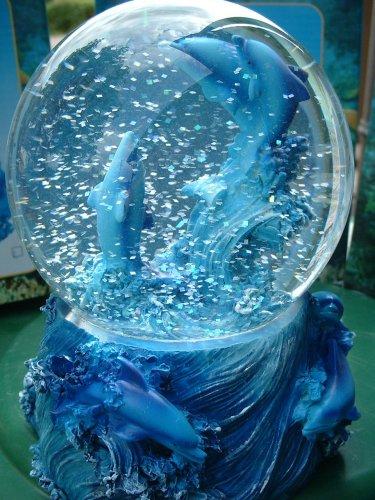 Geschenkestadl Grosse Schneekugel Delfin Delphine