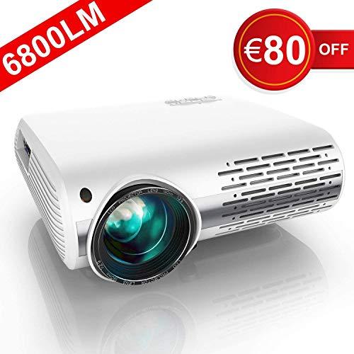 YABER Proiettore 6800 Lumen Videoproiettore Nativa 1080P 4D Keystone Correction ± 50° Led Full Hd Supporto 4K...
