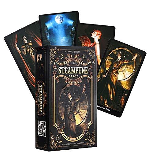 XYAM 78PCS Tarot Cards The Steampunk Tarot Table Deck Board...