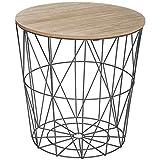 AC-Déco Table à café Kumi - D 39.5 x 41 cm - Noir